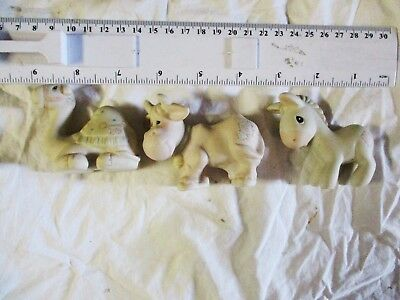 Precious Moments 1982 Nativity Miniature Camel Cow Donkey