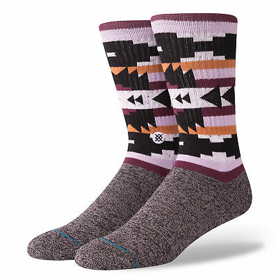 Stance Mens Lyonz Black Athletic Ribbed Crew Socks Large