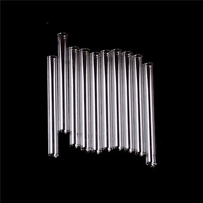 10Pcs 100 mm Pyrex Glass Blowing Tubes 4 Inch Long Thick Wall Test Tube YNW