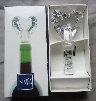 Mikasa Bottle Stopper Austria Lead Crystal Heart Venus In Box
