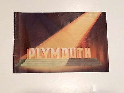 1936 Plymouth DeLuxe Auto Show Room  Brochure - Great Illustrations!