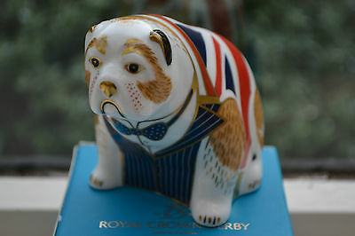 "Royal Crown Derby Paperweights ""WINSTON CHURCHILL BULLDOG"" L Ed 500 1st Qual"