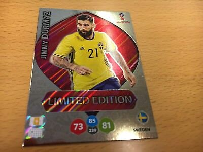 Panini World Cup 2018 Russia Jimmy Durmaz Limited Edition