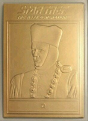 22Ct Gold Star Trek Tng Trading Card- Q