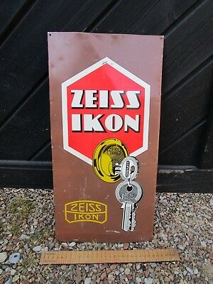 Original Vintage Zeiss Ikon Keys sign for Locksmith etc. Tin advertising sign