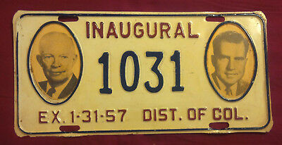 1957 District Of Columbia 1031 Inaugural License Plate