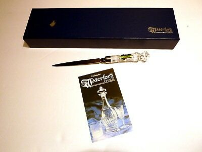 """New *VINTAGE* Waterford Crystal LISMORE (1957-) Letter Opener 8 3/8"""" NEW IN BOX"""