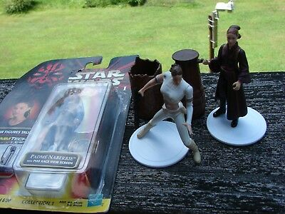 Star Wars Padme Amidala action figures, loose and packaged, 3 action figures