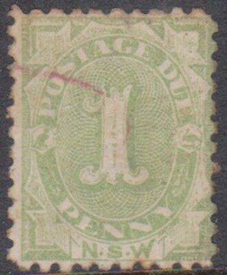 (K109-2) 18903 NSW 1d green postage due (B)