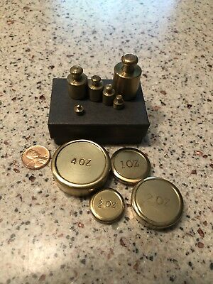 Vintage Small Brass Scale Weights