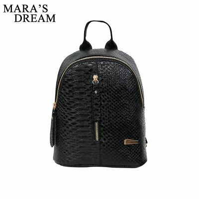 Mara s Dream 2018 PU Leather Women Backpack Crocodile Pattern Solid School  Backp 837203dee37e4