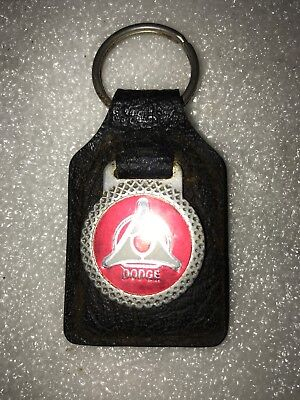 Vintage Dodge Key Chain Suede Leather
