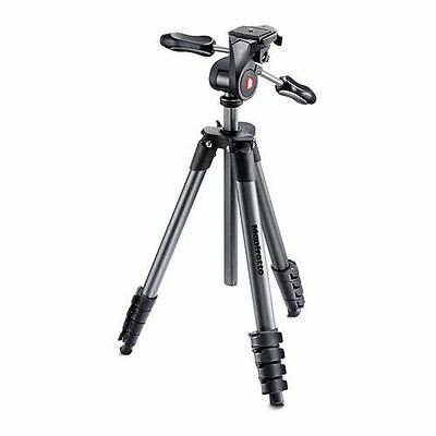 Manfrotto Compact Advanced Tripod (Black) No Sony 5R/5T Adapter Plate, No Bag VG