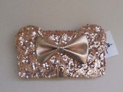 NWT - Disney Rose Gold Minnie Mouse Wallet / iPhone Case