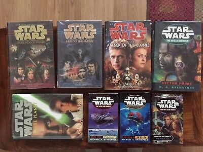 Lot of 8 STAR WARS Hard Cover & Paperback Novels - Timothy Zahn - Salvatore