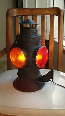 Electrafied Antique Armspear 4 Way Railroad Lamp