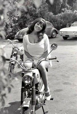A3 VOLUPTUOUS COVER GIRL SHAWN DEVEREAUX 1968 TEASE NEGATIVE MOTORCYCLE by VOGEL