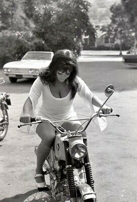A5 VOLUPTUOUS COVER GIRL SHAWN DEVEREAUX 1968 TEASE NEGATIVE MOTORCYCLE by VOGEL