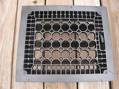 Antique Vintage Cast Iron Heater Grate Vent Register 12 x 10