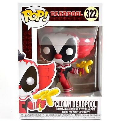 Funko Pop! Playtime Clown Deadpool #322 Vinyl Bobblehead Action Figure NIB