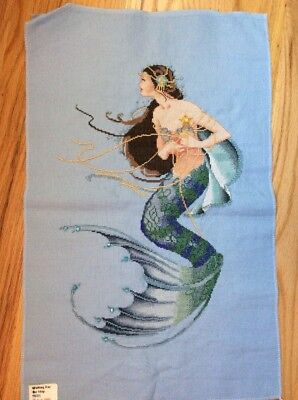 Hand-painted Needlepoint Hand painted Mermaid Waiting For The Ship