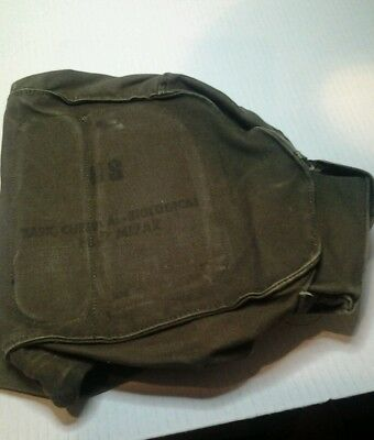 Vintage collectable US military mask chemical biological field M17A2 series bag