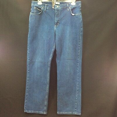Lee Riders Jeans Pants Ladies Size 18M Denim Relaxed Fit Straight Leg Inseam 31