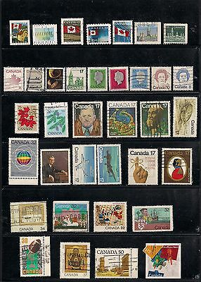 Nice lot of used canadian stamps.FIVE CENTS SPECIAL!!
