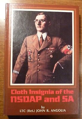 RARE Cloth Insignia of the NSDAP and SA, HC 1st Ed. 1985 - Signed & #'d