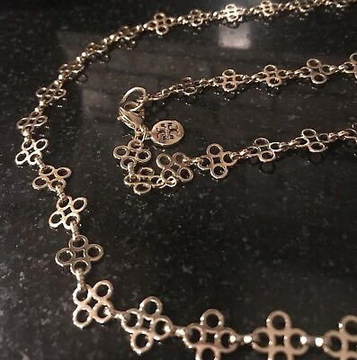 d7bd0d24b57 TORY BURCH ROPE Clover Rosary Necklace -  32.99