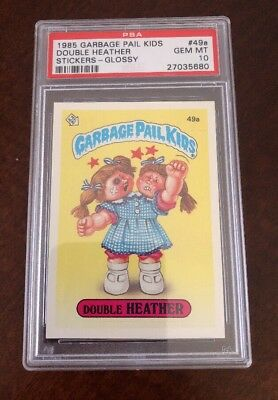 1985 Garbage Pail Kids 49a Double Heather Glossy Gem Mint PSA 10 Rare!