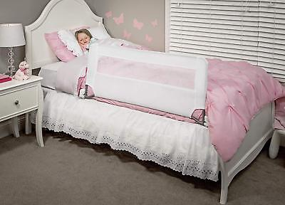 Long Safety Bed Rail Child Toddler Kids Swing Down Adjustable Twin Queen Bedrail