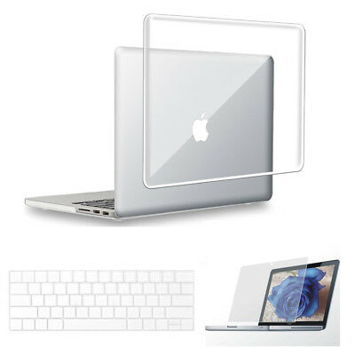 Clear Hard Case Shell for Macbook Air 13/11 Pro 13/15 Retina 12 + Keyboard Cover