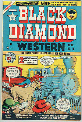 BLACK DIAMOND WESTERN  18  FN/VF/7.0  -  Nice early ish from 1950! Great colors!