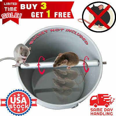 Metal Mice Rats Mouse killer Roll Trap log Grasp Bucket Rolling Spinning Roller