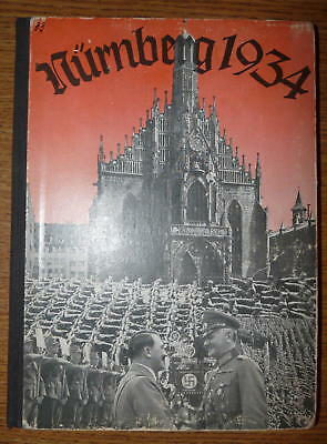 RARE - Original Reichstagung (NSDAP Party Days) Photo Yearbook - Nurnberg 1934