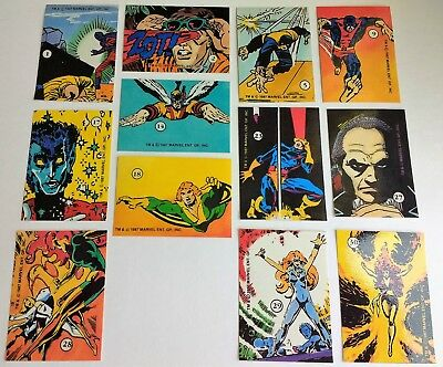 1987 History of the X-Men stickers by Comic Images - singles - you choose Marvel