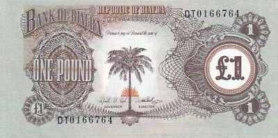 AU 1968-69 Biafra 1 Pound Note, Pick 5a.