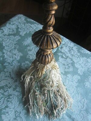 "11"" Victorian Tassel Beaded Ornament Christmas Decor Variety Of Fab Cording Etc"