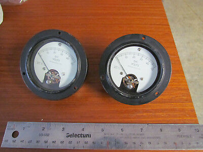 Pair A&M Inst. DC. Volts Meter. Used