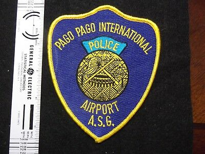 American Samoa ASG Pago Pago Intl Airport Police patch Oceana Pacific Federal