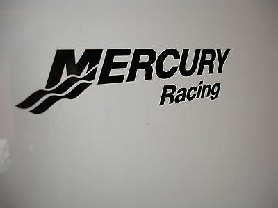"Mercury Racing Sticker 24"" X 5.2"" DECAL BLACK Race Boat You Get 2!"