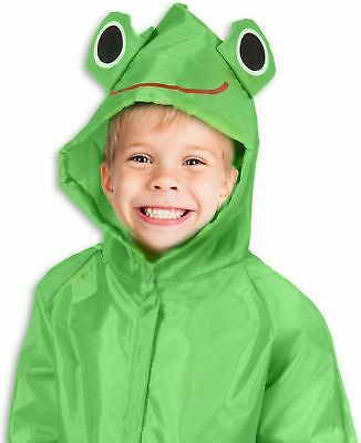 TRIBUTE Safe PVC Free Kids Rain Coat For Boys and Girls Ages 7-12 With Zipper...