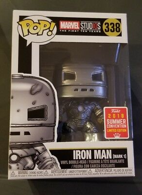 "Funko Pop! ""Marvel"" Iron Man -Mark 1- (#338)  2018 SDCC Shared Summer Exclusive"