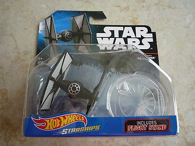 Hot Wheels Starships Star Wars First Order TIE Fighter Die-Cast New w/ Stand