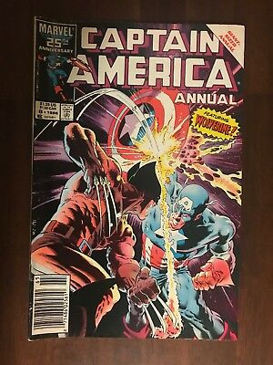 Captain America Annual #8 (1986, Marvel) Wolverine Cover
