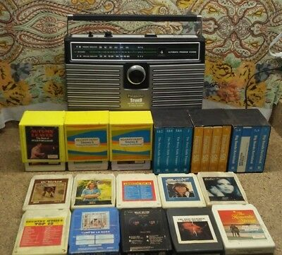 Vintage Panasonic AM FM Radio with 8 Track Player Model RS-836S  @Watch youtube