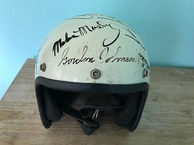 Winners Signed Helmet Indianapolis Indy 500 Al Unser Rick Mears Bobby Unser