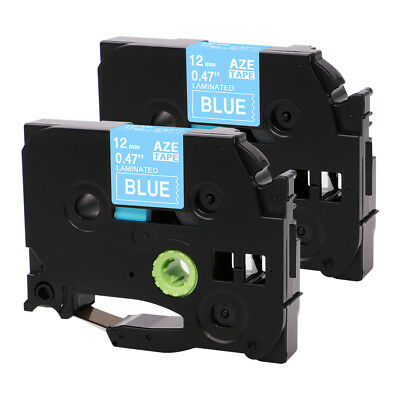 TZe TZ535 Brother Standard P-Touch Compatible blue12mm Label maker Tape 2PK 12mm