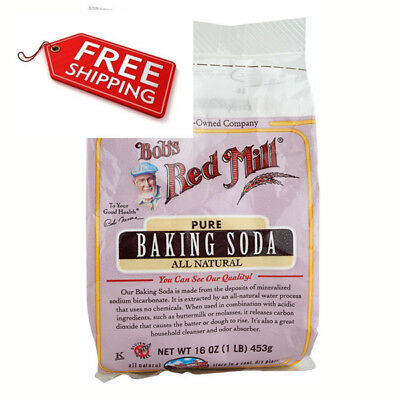 Bob's Red Mill All Natural Pure Baking Soda 16 oz Bags - Single Pack